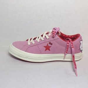🛍 CONVERSE ONE STAR OX PRISM PINK/FIERY RED/EGRET